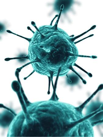organic fluid: virus illustration
