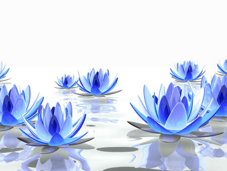 lotus flowers on water Stock Photo - 7165147