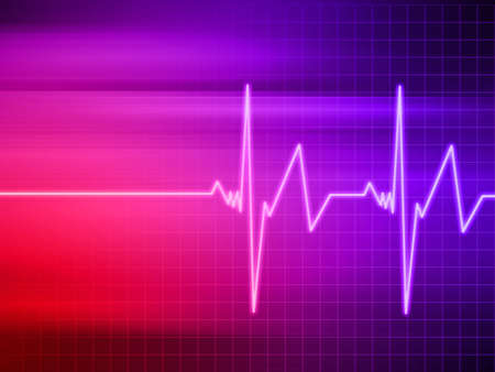 heartbeat on colorful background Stock Photo - 7165108