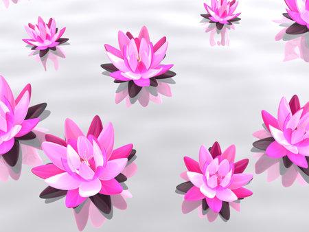 lotus flowers on water Stock Photo - 7165071