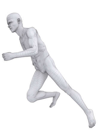 jogger wireframe Stock Photo - 7148860