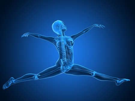 skeletal: ballet dancer - transparent female skeleton Stock Photo