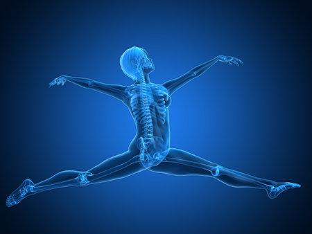 ballet dancer: ballet dancer - transparent female skeleton Stock Photo