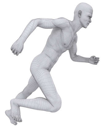 jogger: jogger wireframe Stock Photo