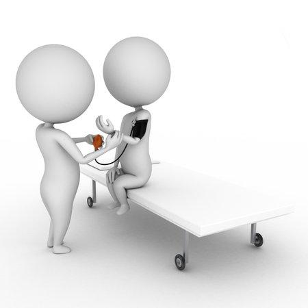 pacjent: 3d Å›wiadczonych ilustracji niewiele lekarza
