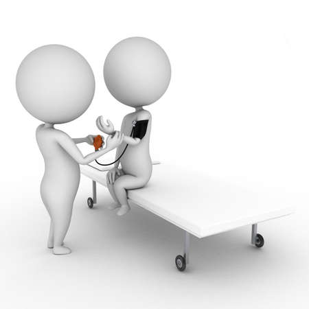 patients: 3d rendered illustration of a little doctor