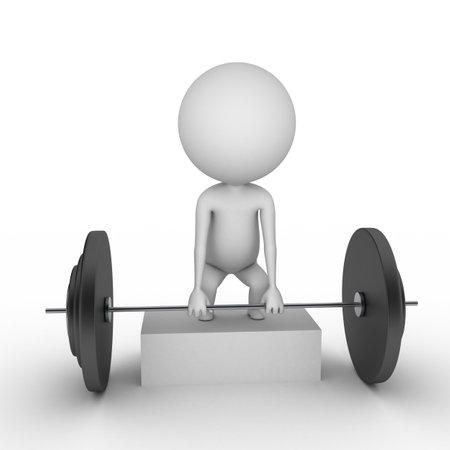 fortaleza: 3d rindi� la ilustraci�n de un hombre con pesas