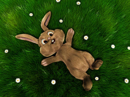 grassfield: easter bunny on a grassfield