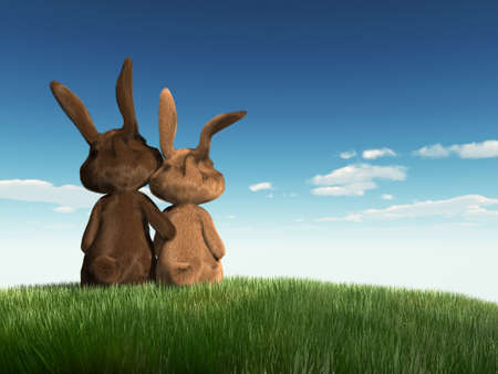 grassfield: easter bunnys