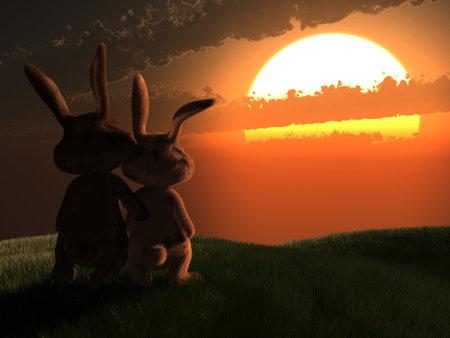 grassfield: easter bunnies