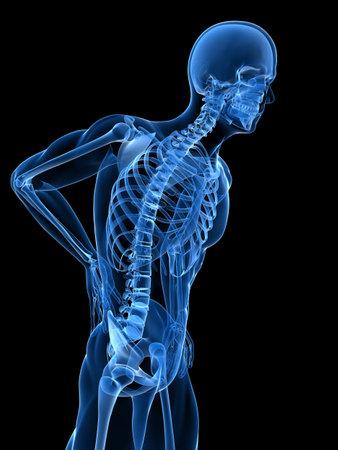 human spine: backache illustration  Stock Photo