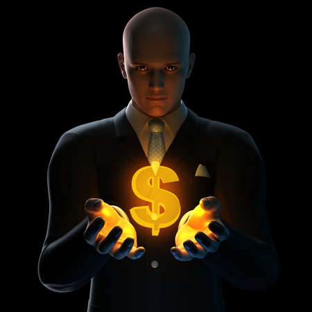businessman - dollar sign  photo
