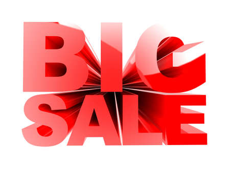 3d rendered illustration of a text - big sale