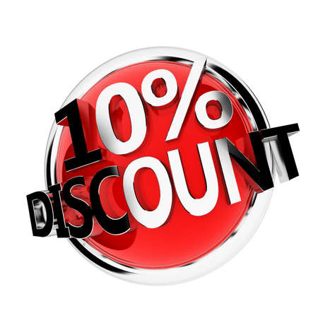 3d rendered illustration of a discount button 版權商用圖片 - 11023546