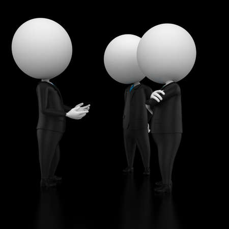 handclasp: 3d rendered illustration of two guys talking