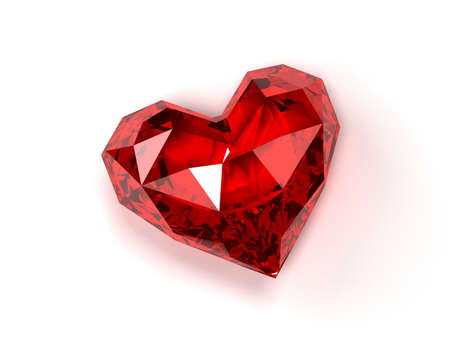 ruby heart  photo