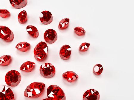 ruby hearts  Stock Photo
