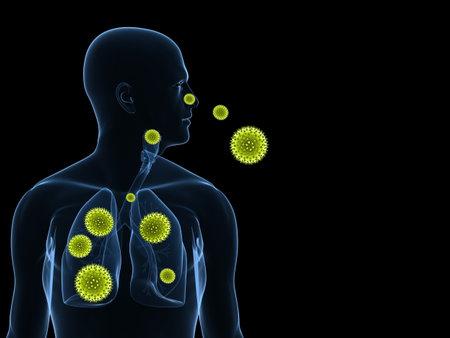 pollen allergy illustration  illustration