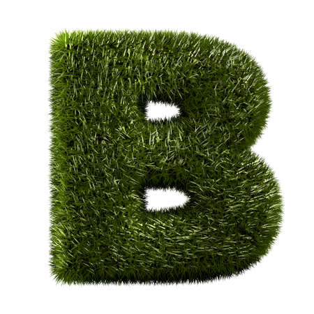grass alphabet - B photo