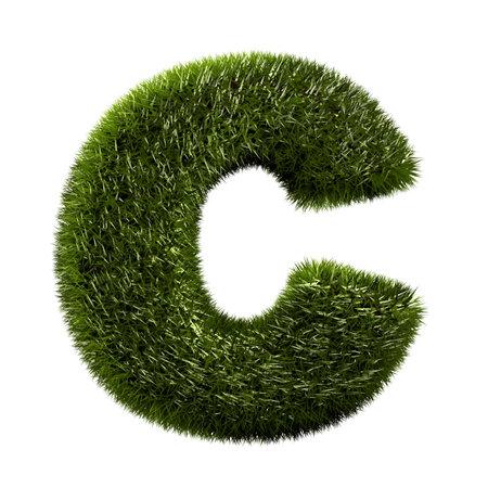 grass alphabet - C Stock Photo - 11090750