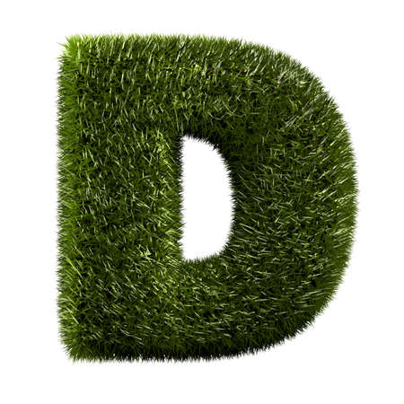 grass alphabet - D photo