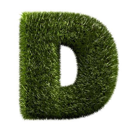 d: grass alphabet - D Stock Photo