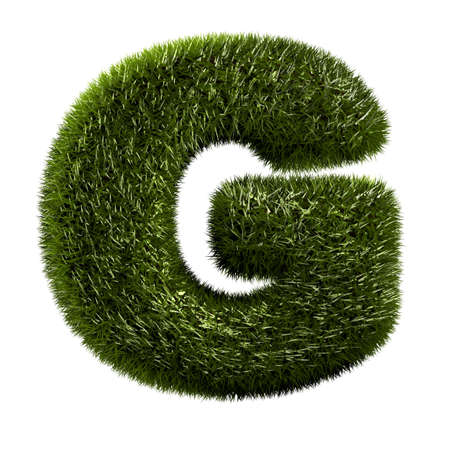 g alphabet: grass alphabet - G Stock Photo
