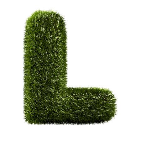 grass alphabet - L Stock Photo - 11090735