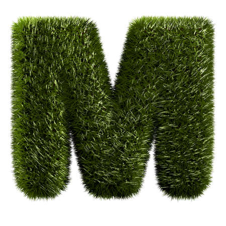 grass alphabet - M photo