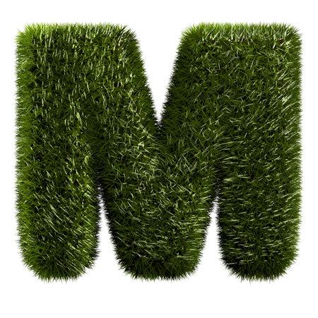 grass alphabet - M Stock Photo - 11090773