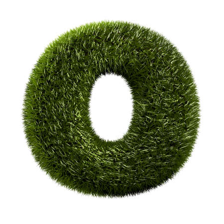 grass alphabet - O Stock Photo - 11090754