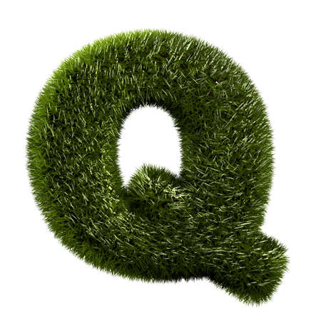 grass alphabet - Q photo