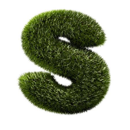 s alphabet: grass alphabet - S