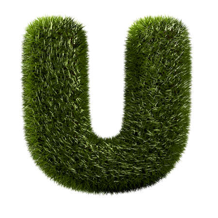 grass alphabet - U photo