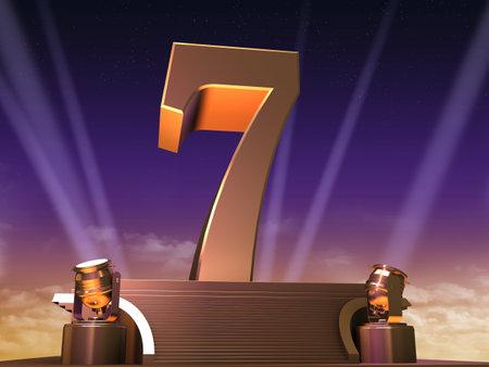 stage lighting: golden seven