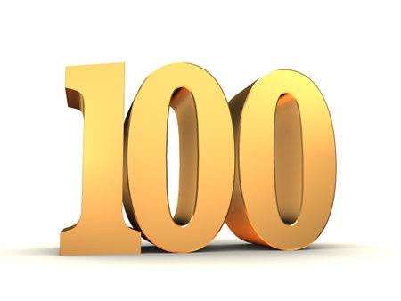 bevel: golden number - 100