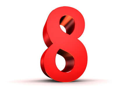 red 3d number  photo