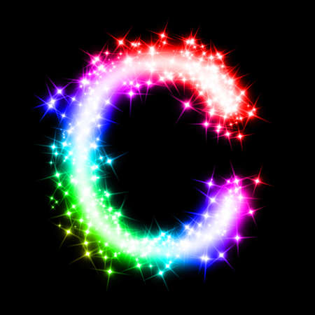 colorful alphabet letter - C Stock Photo - 11062703