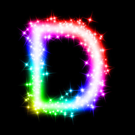colorful alphabet letter - D photo
