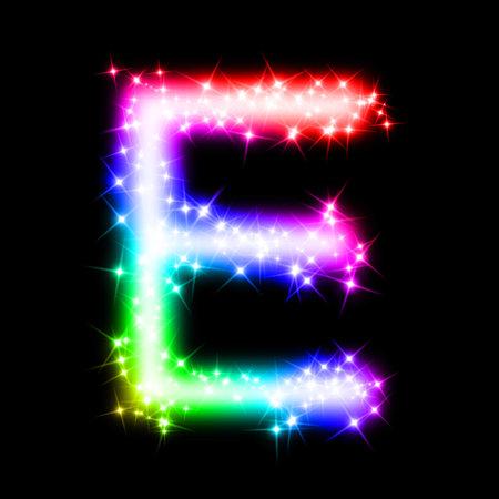 e alphabet: colorful alphabet letter - E