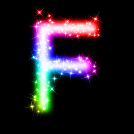 colorful alphabet letter - F photo