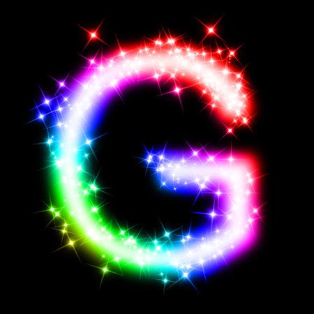g alphabet: colorful alphabet letter - G