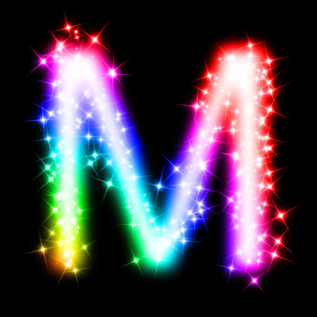 colorful alphabet letter - M photo