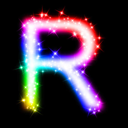 colorful alphabet letter - R Stock Photo - 11062695
