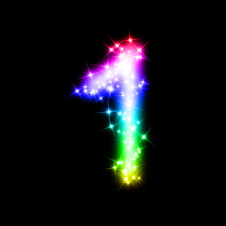 numbers abstract: glitter n�mero 1 Foto de archivo