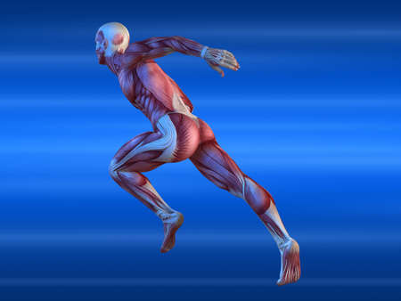 sports medicine: male sprinter