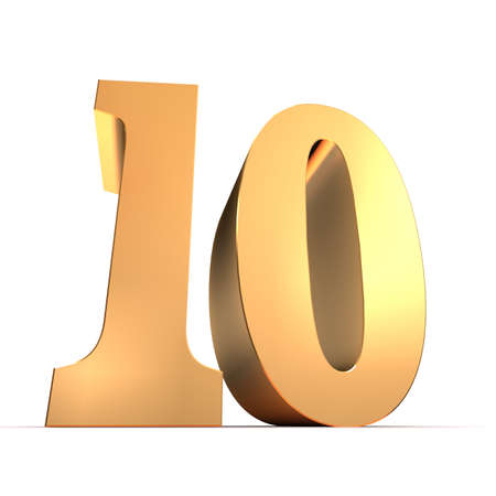 10 number: golden number - 10