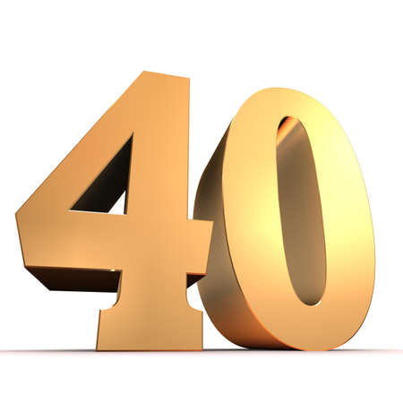 40: golden number - 40  Stock Photo