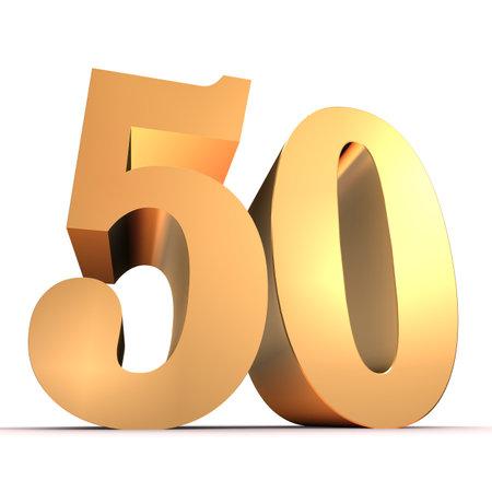 50 number: golden number - 50