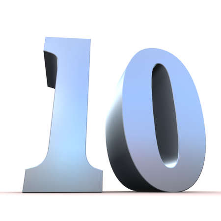 silver number - 10 photo